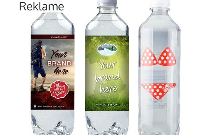 Sørg for en enkel men effektiv markedsføring med logovandflasker