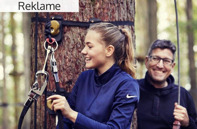 Tag familien med i en klatrepark