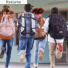 Klar, parat, skolestart med skoletasker til børn i alle aldre